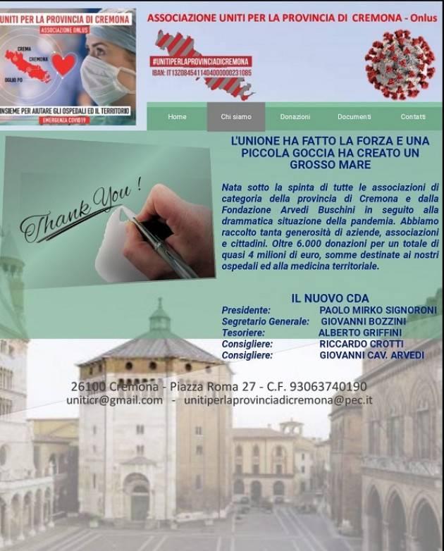 Uniti per Cremona On line il sito dell'Associazione