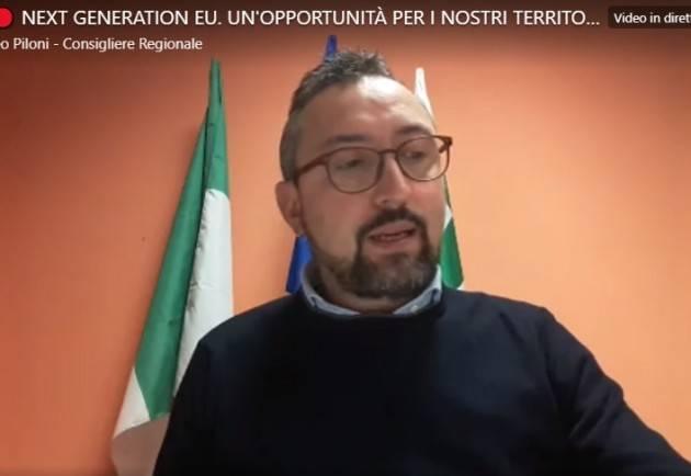 Matteo Piloni (PD) Proposte utilizzo risorse europee 'Next Generation Eu' (Video)