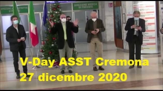 V-Day ASST Cremona VACCINIAMOCI I video della giornata 27/12/2020