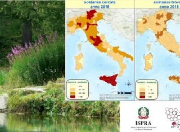 Rapporto nazionale pesticidi nelle acque: trovate 299 sostanze inquinanti, gli insetticidi quelle più diffuse