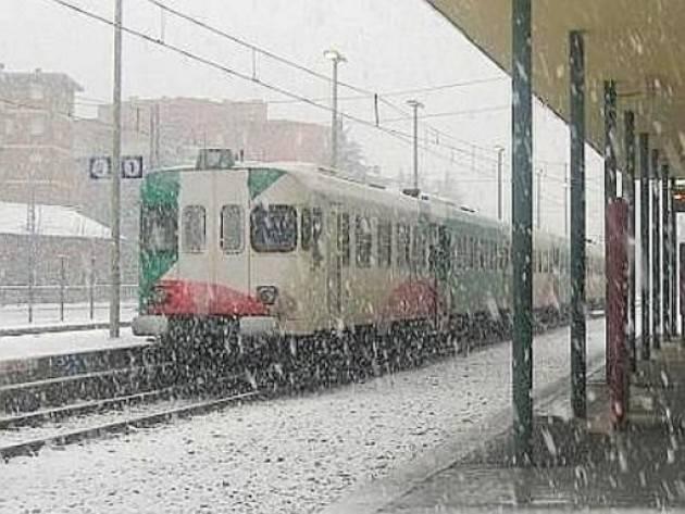 Lombardia Ferrovie/ Lunedì 28 dicembre scatta il piano neve: meno treni sui binari