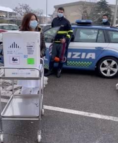 I  vaccini  anticovid per l'Oglio Po arrivati stamane a Crema (Video)