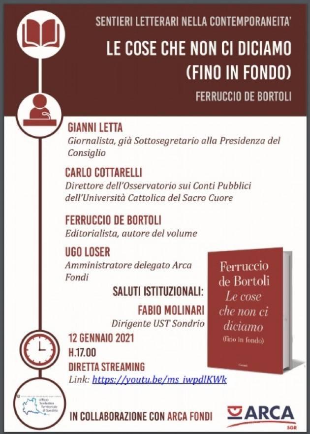 UST Cremona  'Sentieri Letterari'  con Ferruccio De Bortoli 12 gennaio