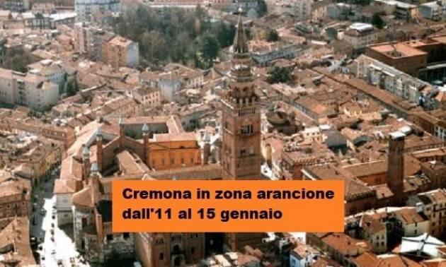Gianluca Galimberti  COVID, CREMONA  ARANCIONE FINO AL 15 GENNAIO