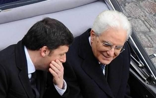 Sergio Mattarella tira le orecchie a Renzi e lui si accuccia e non ritira più i ministri