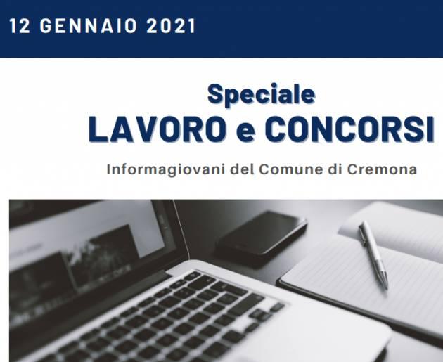 LAVORO E CONCORSI Cremona, Crema,Soresina Casal.ggiore del 12 gennaio  2021