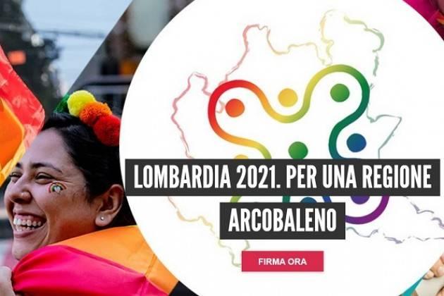 LOMBARDIA 2021. Firma Petizione  per legge contro l'omolesbobitransfobia