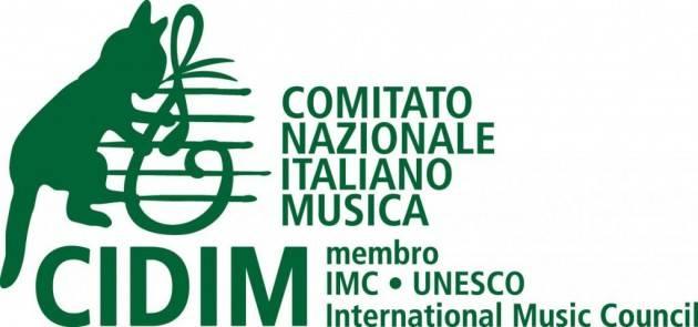 CIDIM FIRMA PETIZIONE PER LA RIPARTENZA DELLA MUSICA DAL VIVO