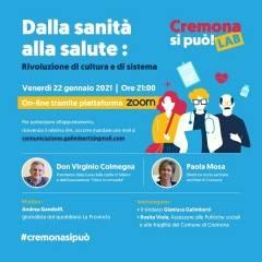 Cremona Dalla sanità alla salute: incontro con don Colmegna e Mosa