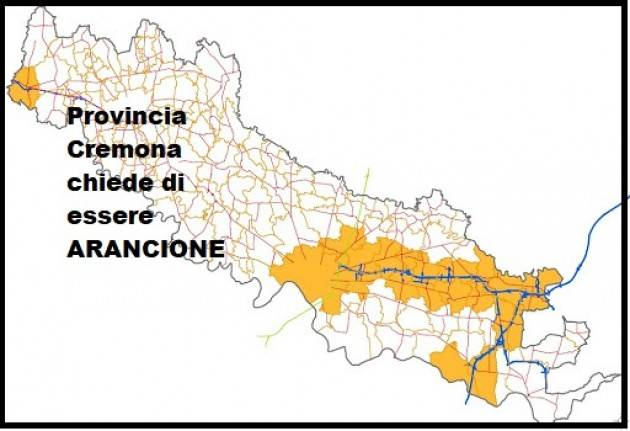 Provincia ed SINDACI CREMONA, CREMA E CASAL.GGIORE chiedono  zona arancione