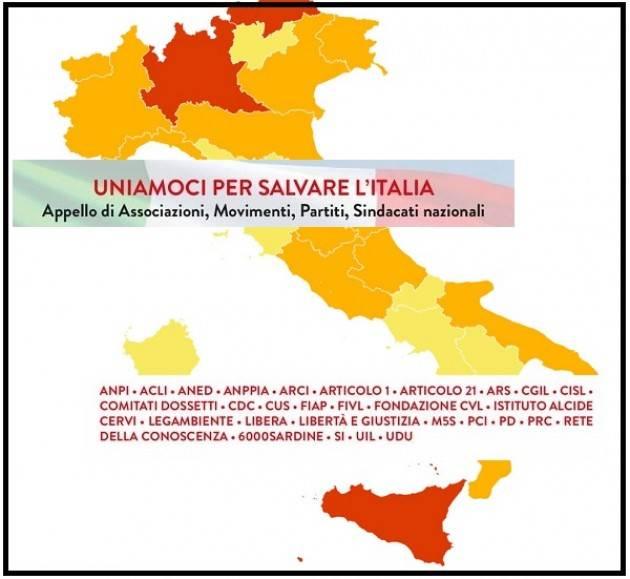 UNIAMOCI PER SALVARE L'ITALIA   Appello Associazioni, Partiti, Sindacati