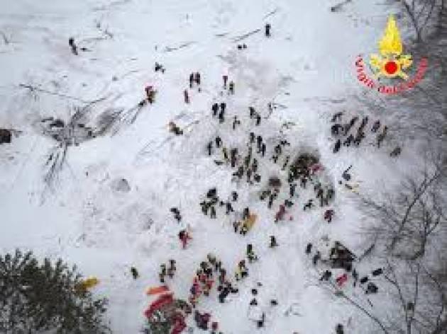 CNDDU  Commemorazione vittime tragedia Rigopiano  18 gennaio 2018-2021