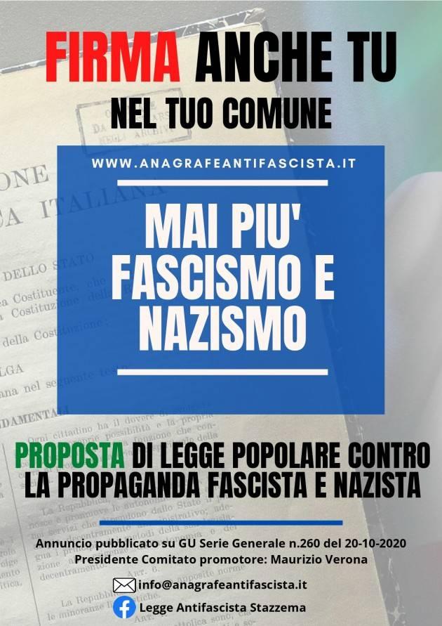 L'Anpi di Cremona impegnata nella raccolta di firme MAI PIU' FASCISMO