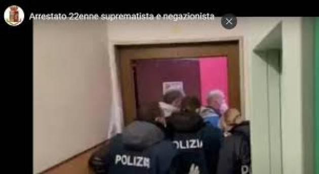 Terrorismo: arrestato 22enne suprematista e negazionista