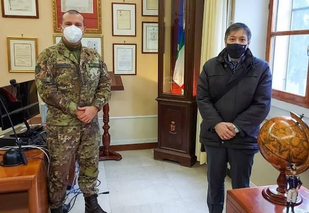 UST Cremona Fabio Molinari visita  X Reggimento Genio Guastatori