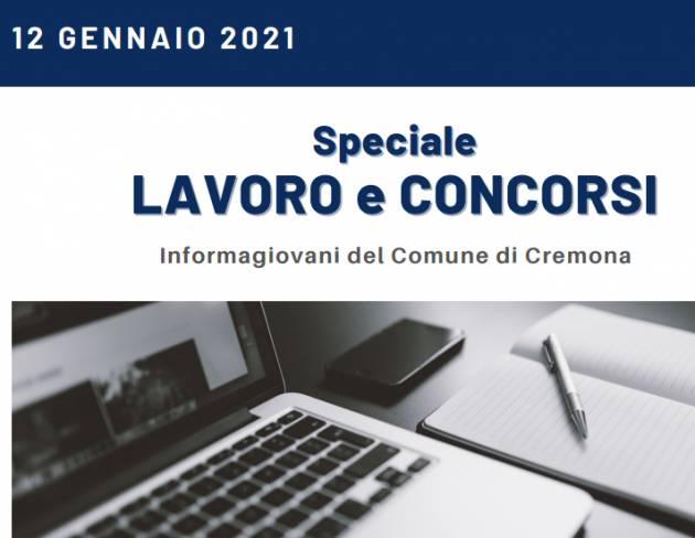LAVORO E CONCORSI Cremona,Crema,Soresina Casal.ggiore 26 gennaio 2021