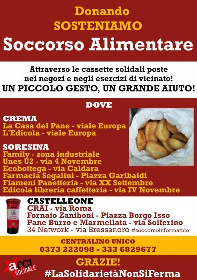 ARCI SOLIDALE:  a Crema, Castelleone e Soresina