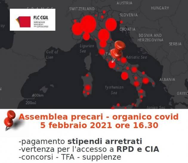 FLC-CGIL Assemblea online precari 'contratto COVID' 5/2/2021 ore 16.30