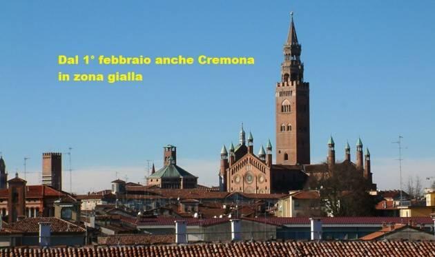 Cremona G.Galimberti Da LUNEDÌ SIAMO ZONA GIALLA: MANTENIAMO ALTA L'ATTENZIONE