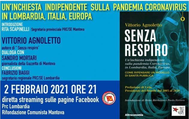 Prc/SE Mantova  PRESENTAZIONE LIBRO 'SENZA RESPIRO' - DI VITTORIO AGNOLETTO
