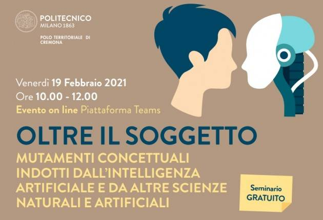 Campus Cremona PoliMi - Seminario on line Oltre il Soggetto