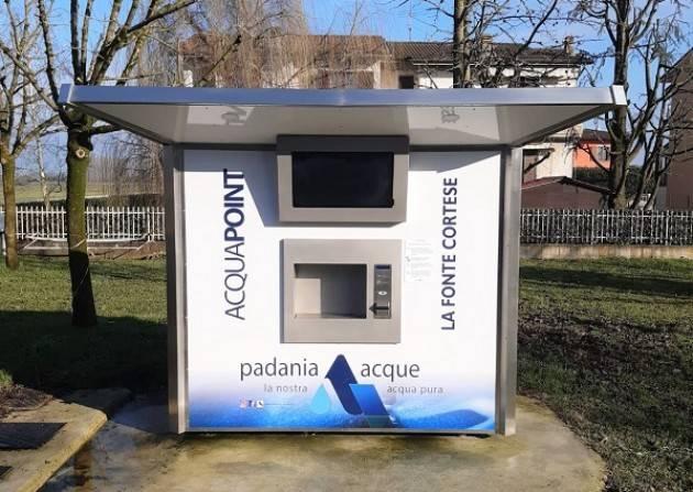 Padania Acque : È attiva 'Fonte Cortese' a Corte de' Cortesi con Cignone