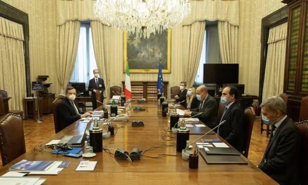 Nicola Zingaretti (PD) Soddisfatto dell'incontro con Mario Draghi del 9/2/21