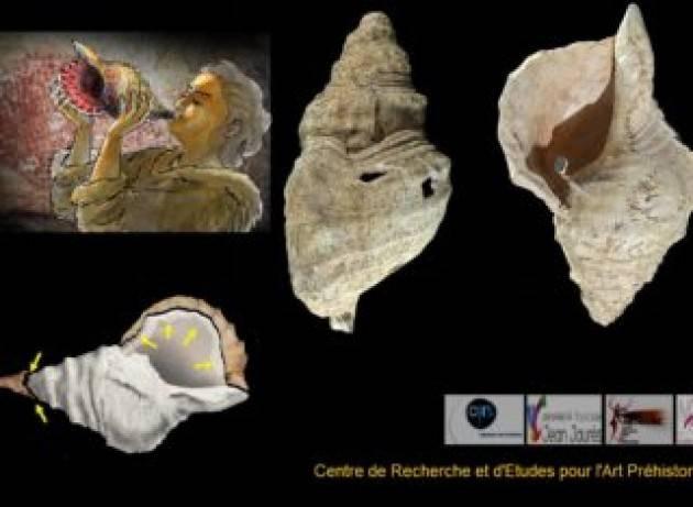 I nostri antenati suonavano le conchiglie già 18.000 anni fa