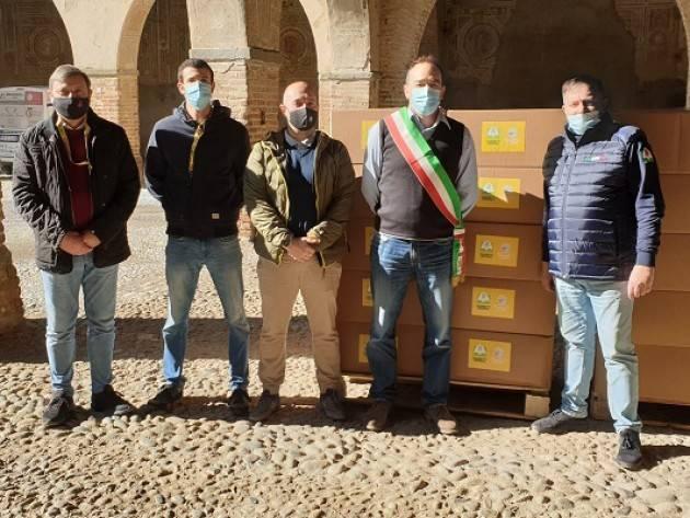Coldiretti Cremona, la  solidarietà alimentare fa tappa a Pandino