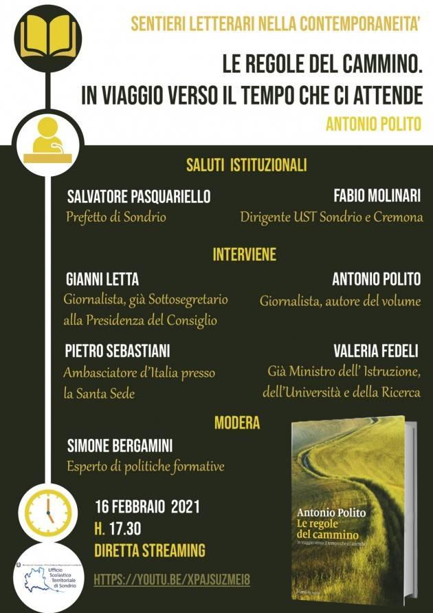 UST Cremona 'Sentieri letterari': 16 febbraio incontro con Antonio Polito