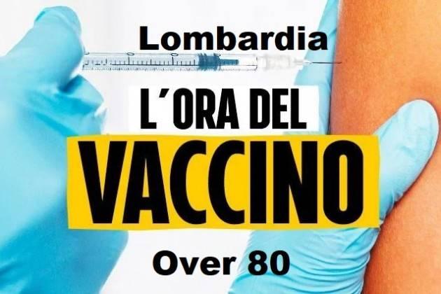 Lombardia  Da lunedì 15 febbraio al via campagna vaccini anti-covid per over 80