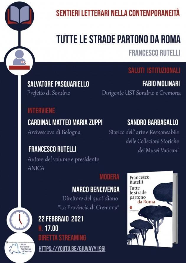 UST Cremona Rutelli ospite di 'Sentieri Letterari' il 22 febbraio