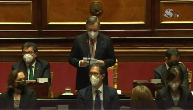 I Premier Marco Draghi presenta il suo programma di Governo al Senato