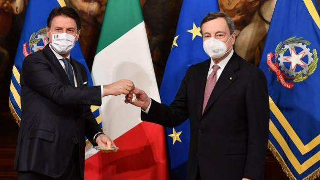 Mario Draghi ringrazia Giuseppe Conte. Bene  | G.C.Storti