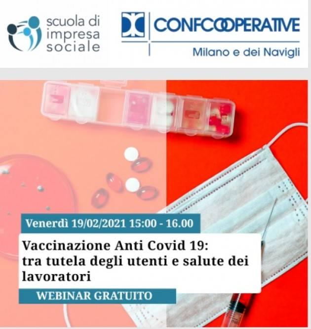 Milano Vaccinazione anti Covid-19 : tutela utenti e salute dei lavoratori