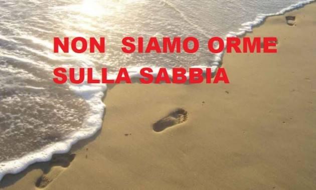 NON SIAMO ORME SULLA SABBIA Petizione a Sergio Mattarella e Mario Draghi