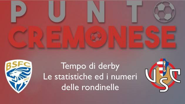 PUNTO CREMONESE: tempo di derby oggi  Brescia-Cremonese, i numeri delle rondinelle