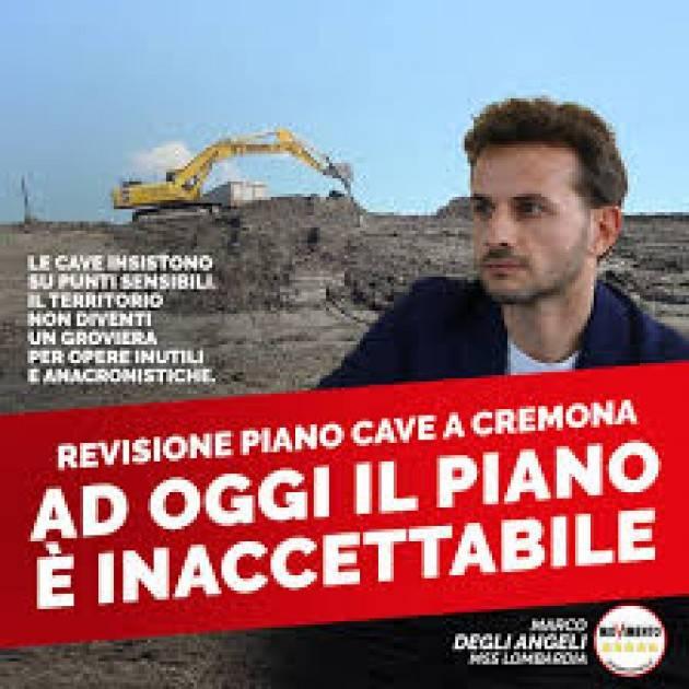 Revisione Piano cave a Cremona. Degli Angeli (M5s Lomb.) sfavorevole