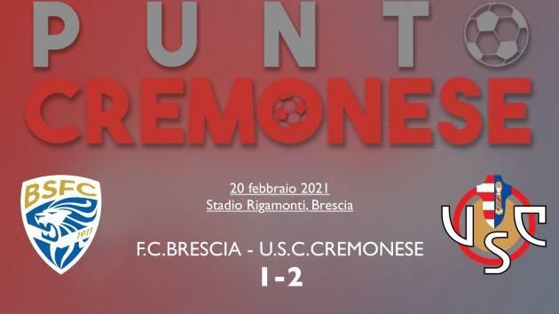 """PUNTO CREMONESE: Brescia-Cremonese 1-2, """"la doppietta"""" di Ciofani abbatte le rondinelle"""