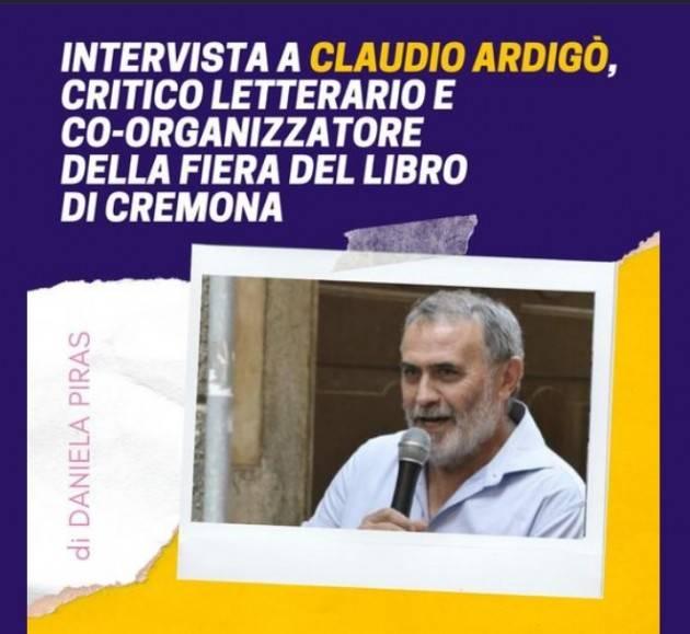 DANIELA PIRAS Intervista Claudio Ardigò co-organizzatore Fiera Libro di Cremona