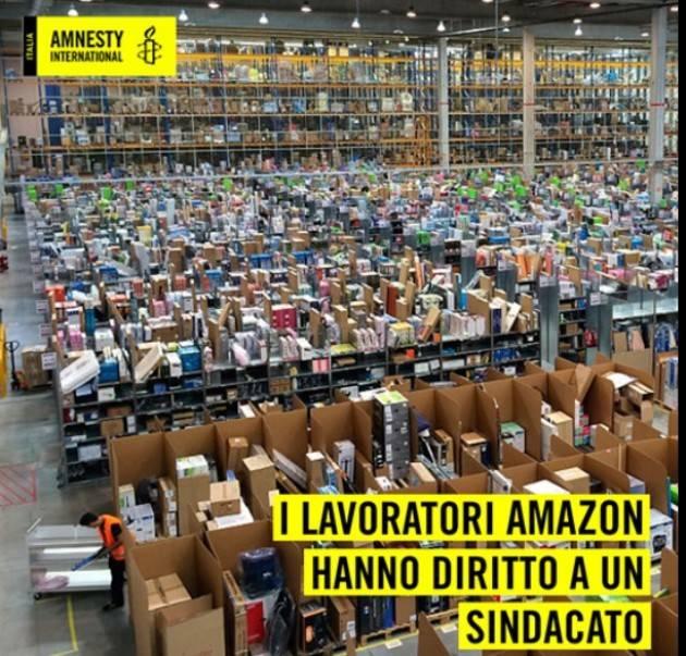 Firma Petizione promossa Amnesty: i lavoratori Amazon hanno diritto al sindacato