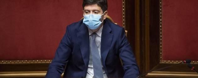 Ministro Roberto Speranza. Siamo all'ultimo miglio Nuovo Dpcm in vigore dal 6/3 al 6/4