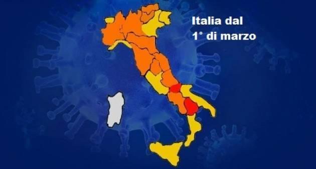 Era Covid Ecco come sarà l'Italia dal 1° marzo