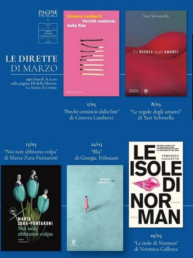 Crema Libreria La Storia  Le dirette di marzo