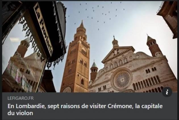 Cremona su ' Le Figarò' Gianluca Galimberti molto soddisfatto
