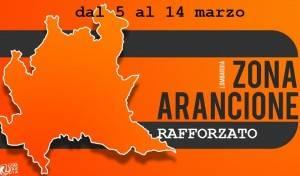 Tutta la Lombardia in zona arancione rafforzata  dal 5 al 14 marzo