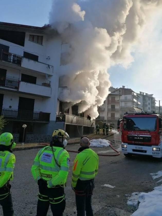 A fuoco appartamento nella Bergamasca
