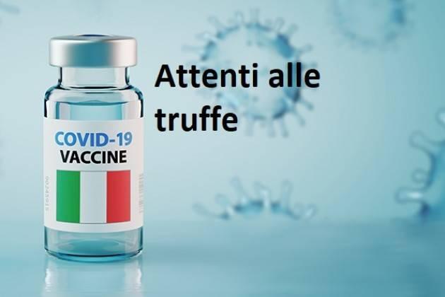 ATS Pavia Vaccinazione Anticovid segnala truffa via sms a danno ultra 80enni
