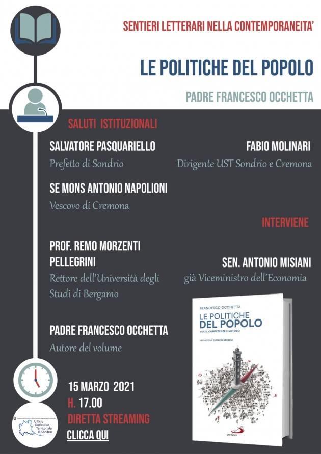 UST Cremona 8° appuntamento Sentieri letterari nella contemporaneità il 15/03/21