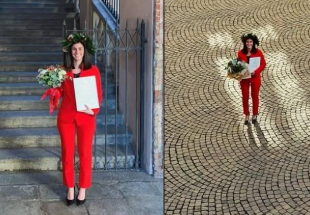 Crema Laurea in Comune. Martina Margheritti ringrazia Bonaldi